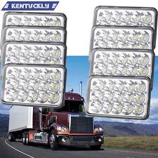 8PC LED Rectangular Headlights For Peterbilt Kenworth T800 T400 T600 W900B W900L