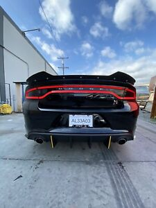 1 Piece 15-21 Dodge Charger SRT ScatPack Hellcat Rear Wicker Bill Spoiler GT RT