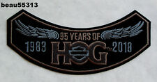 HARLEY DAVIDSON OWNERS GROUP HOG H.O.G. 1983 2018 VEST JACKET PATCH