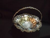 ANTIQUE 19TH CENTURY ORNATE LARGE SILVERPLATE CENTERPIECE FOOTED BOWL