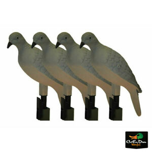 NEW MOJO OUTDOORS CLIP ON DOVE DECOYS 4 PACK - HW9004