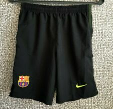 FC Barcelona Barca Black Football Soccer Training Shorts Nike Youth size L Mint