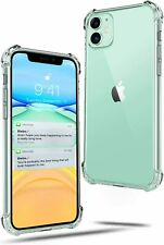 Clear Case Compatible - Apple iPhone 11 Clear Case - Protective Silicone Slim