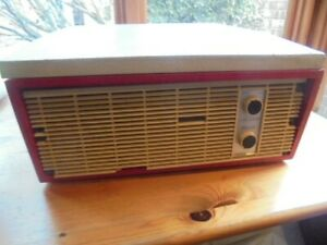 Vintage 60's Valve Record Player Bsr 4 -speed Turntable see desc