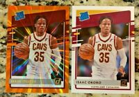 2020-21 Donruss Basketball Isaac Okoro Orange Holo Lazer Rated Rookie + Base