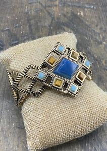 Barse Harbor Lights Cuffed Bracelet-Mixed Stones- Bronze- NWT