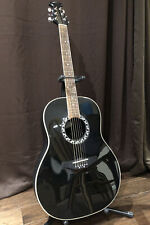 Applause by Ovation Acoustic Guitar Aa 21 Black Swoop Back