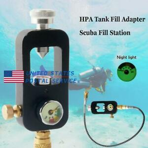 Paintball PCP Scuba Diving Fill Station Tank Valve w/ High Pressure 4500psi Hose
