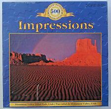 jigsaw puzzle 500 pc Impressions Monument Valley Tribal Park Utah Sure-Lox