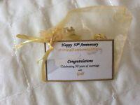 Keepsake gift for 50th anniversary golden wedding anniversary gift present card
