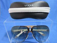 Vogue Aviator Women's Sunglasses VO 3723-S Gray Tinted Lens White & Chrome Frame