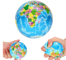 76 mm Stress Relief World Map Foam Ball Atlas Globe Palm Ball Planet Earth Ball