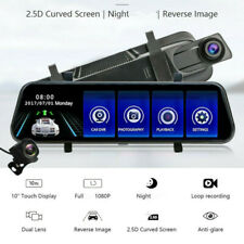 Car 10in Touch Screen Video Recorder Rear View Camera Mirror Night DVR Dash Cam
