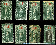 Canada Lower Canada Law Stamp Revenue Used Lot 8 items