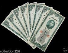 8 Pieces CHINA CUSTOMS GOLD UNIT 20 YUAN 1930