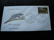 MADAGASCAR - enveloppe 15/6/73 - cameleon nasutus male - yt n° 524 - (cy7)