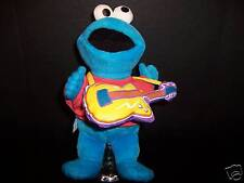 Plush Cookie Monster Guitar Sesame Street Muppet Toy