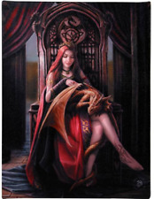 Anne Stokes Large Selection Gothic Art Wall Canvas Print Fantasy Dragon 25 X19cm Friends Forever