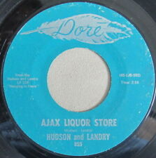 Hudson and Landry – Ajax Liquor Store, Vinyl, 45rpm, 1971, 855, Very Good++