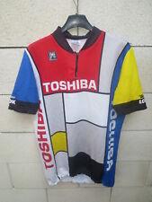 Maillot cycliste TOSHIBA vintage LOOK Tour de France 1988 Madiot maglia shirt XL
