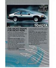 1982 Toyota CELICA Liftback Silver/Black 2-door Vtg Print Ad