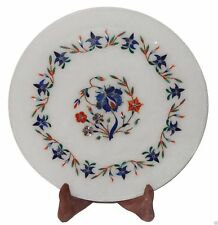 Marble Plate Inlay Pietra Dura Handmade Home Decor & gift