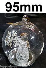 verre bille Ange Déco Boule De Verre 95mm Noël boules de noël boules de Noël