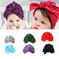 1PC Baby Toddler Boys Girls Indian Turban Bowknot Cotton Beanie Hat Cap Casual