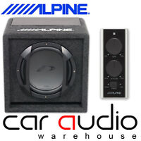 "Alpine SWE-815 - 8"" 20cm 300 Watts Amplified Active Car Sub Subwoofer Bass Box"