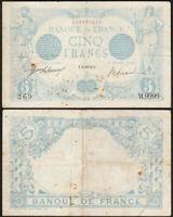 5 FRANCS 1916 FRANCE - Bleu Zodiaque (Verseau) - P70 (M.9999)