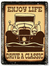 CLASSIC CAR VINTAGE style METAL SIGN great gift for MANCAVE garage  decor 309
