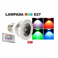 Lampadina Faretto Spot Light Led E27 3W 220V RGB multicolor con Telecomando