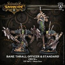 Warmachine: Cryx: Bane Thrall Officer & Standard (PIP34071) NEW