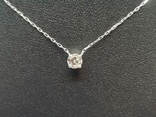 Collier en or blanc 18 carats 750/000 diamant 0.32 carat 1.43 gramme
