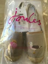 GREY SEAGULL Joules Womens Shelbury Womens/'s Embroidered Espadrilles