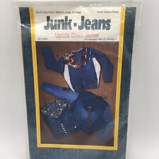 Junk Jeans Upside-Down Jacket Vest Denim Recycle Upcycle Sewing Pattern S M L XL