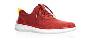 Cole Haan Mens Generation Zerogrand Red Dahlia Knit Fashion Sneaker Size 7.5