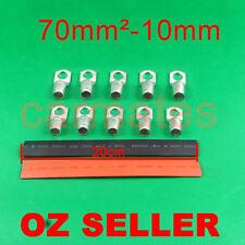 10 Lug Terminals 70-10 plus heat shrink for Car Invertor Generator 12V 24V Light