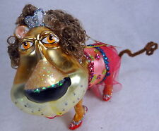 Safari Circus Lion Christmas Ornament Fun Brown Curls Tiara Pink Tutu Red Shoes