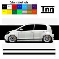 Side Stripes Stickers Decal For VW Volkswagen Up! UP GTI Skoda Citigo Seat Mii