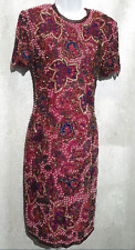 Naeem Khan Riazee Nights Hand Beaded dress Couture size Medium