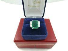 Bague Emeraude Zambie et diamants