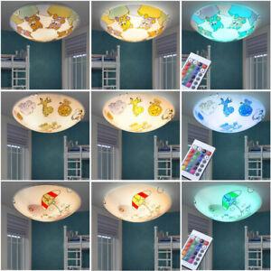 Plafonnier luminaire plafond motif choix chambre d'enfants avec / sans LED (RVB)
