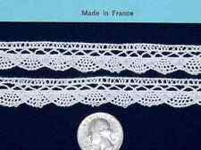 ~ DOLL HEIRLOOM SEWING M PULLEN SMOCKINGFRENCH COTTON CLUNY LACE EDGE ~