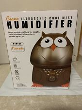Crane Adorable Ultrasonic Cool Mist Humidifier - Owl. New