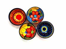 Set of 4 Assorted Hand Painted Spanish Serving Tapas Bowls 7cm Divine Deli