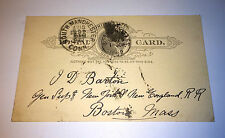 Antique Victorian New York & New England RR To General Supply Railroad Post Card
