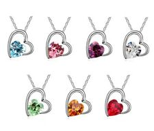 Womens Crystal Heart Necklace made with Crystals from Swarovski® gifts