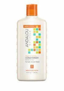 Andalou Naturals Argan Oil & Shea Moisture Rich Conditioner, 11.5 Ounce