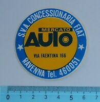 ALTER AUFKLEBER ADESIVO STICKER MERCATO AUTO ANNI '80 VINTAGE 6x6 cm